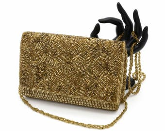 Gold Beaded Evening Bag