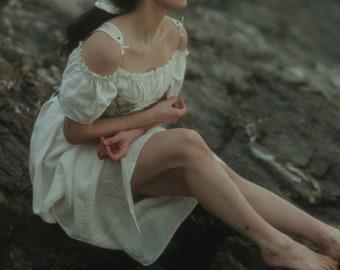 Linen Renaissance Blouse or Dress | Chemise | Pirate Blouse | Linen Shift | Off the Shoulder Blouse | Cottage Core | MADE TO ORDER
