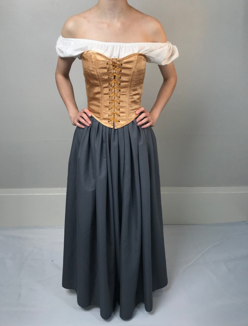 a94922c4aca Peasant Bodice Overbust or Underbust Corset in Yellow Gold