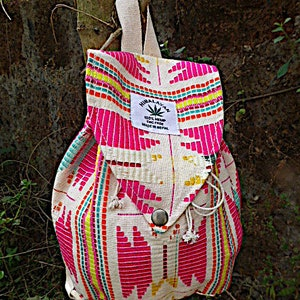 Rucksack Vintage Style Aztec Festival backpack Unisex, triangle shape Cute Backpack Hippie Hipster Boys and Girls backpack