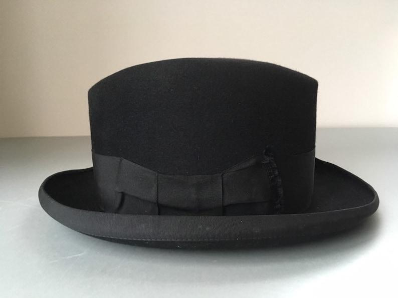 30fb6c4c69b05 Fine Antique Herbert Johnson London Black Wool Felt Fedora