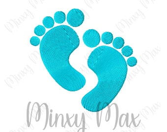 Baby Feet Solid Fill Mini Machine Embroidery Design 1x1 1.5x1.5 2x2 2.5x2.5 3x3 Small Foot tiny INSTANT DOWNLOAD