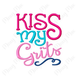kiss my grits kitchen signyour choice of colors etsy. Black Bedroom Furniture Sets. Home Design Ideas