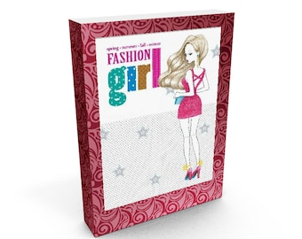 """Coloring Book """"FASHION GIRL"""", book drawing, coloring book for adults, Printable Coloring Pages, Instant Download"""