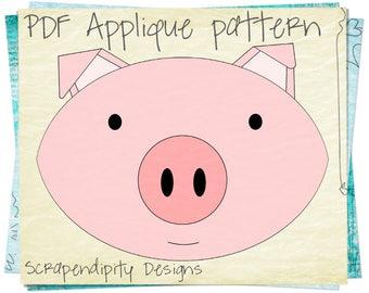 Pig Shirt Applique Template
