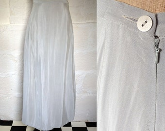 1990s 'Betty Jackson' Ice Blue Parachute Skirt / 80s-90s Evening Skirt / Vintage Skirt / SIZE UK 12