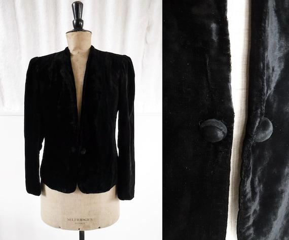 1920s-30s 'Glentor' Black Silk Velvet Evening Jack