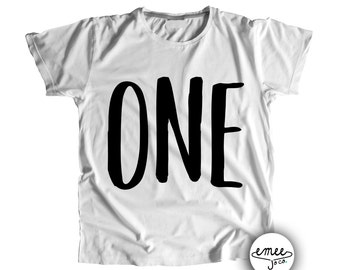 One Birthday Shirt First Boy Girl