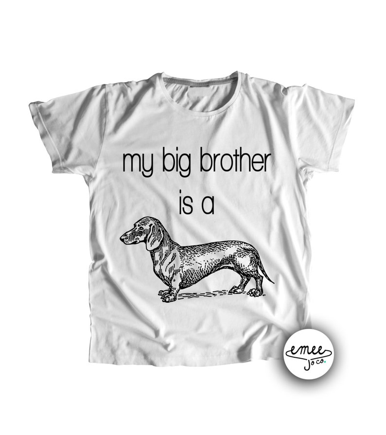 4ae830d8c My Big Brother is a Dachshund Dog Baby Clothes Dachshund | Etsy