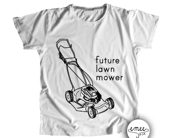Future Lawn Mower, Lawn Mower Shirt, Gifts for New Daddy, Baby Boy Clothes, Funny Baby Clothes, Toddler Boy Clothes