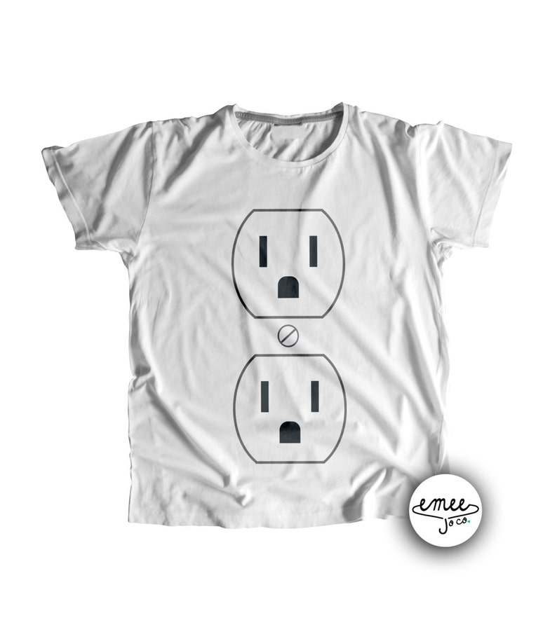 5ba914bf51d4 Costume Shirt for Baby or Toddler Electrical Outlet Halloween