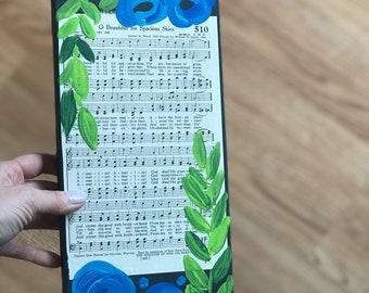Vintage hymn- patriotic music wood wall art