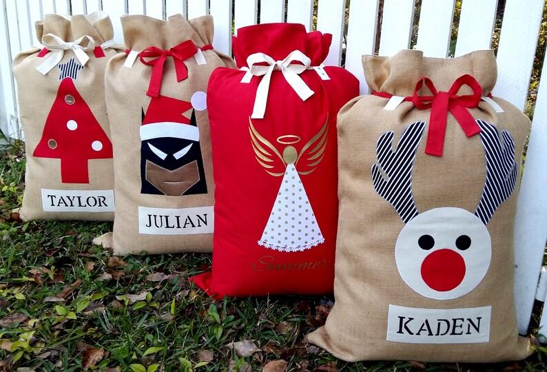 323b683ef41 Family Christmas Set Santa Sacks Christmas Stockings