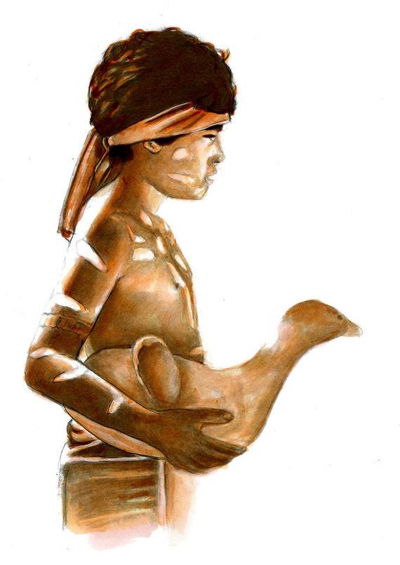 Indian Dance Sculpture Art Sketch