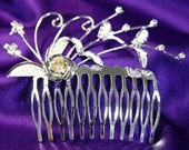 Exquisite Bridal Queen Heart Rhinestone Crystal Tiara (490)
