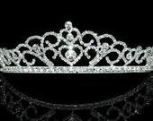 Exquisite Bridal Queen Heart Rhinestone Crystal Tiara (489)