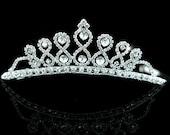 Exquisite Bridal Wedding Princess Rhinestone Crystal Tiara (484)
