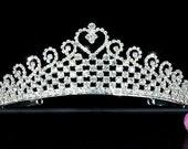 Exquisite Bridal Sparkling Heart Tiara (503)