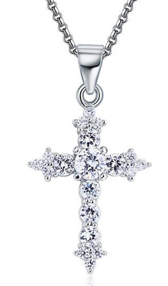 24Ct Princess Graduated Diamond 14K Yellow Gold Over 925 Silver Tennis Necklace