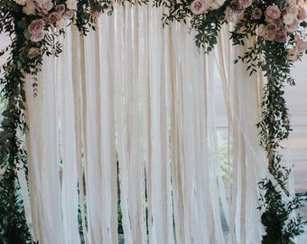 Cotton & Lace Wedding Backdrop
