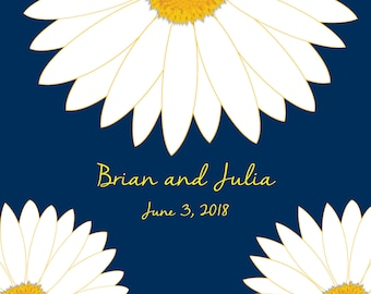 Daisy Wedding Guest Book Alternatives /Bridal Shower Guest Book/Flower Guest Book/Personalized Wedding Poster-20x30-Approx. 100-150 Sig