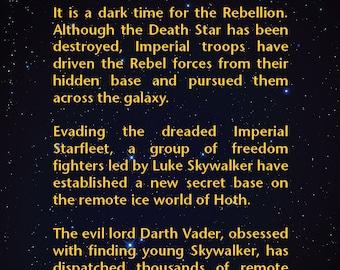Star wars crawl | Etsy