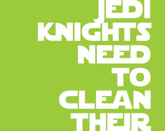 Mix 'n Match 4 Star Wars Quote Prints for Nursery/Boys Room/Jedi Knight - 8x10