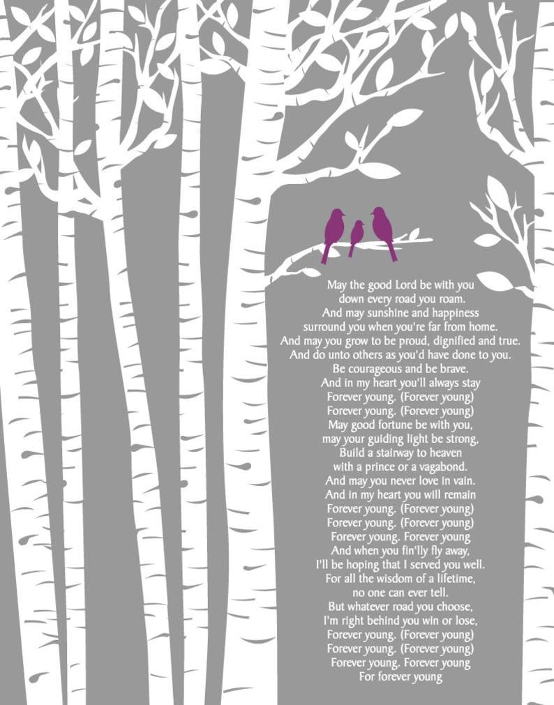 Forever Young Lyrics by Rod Stewart/Birch Trees/ Birch ...