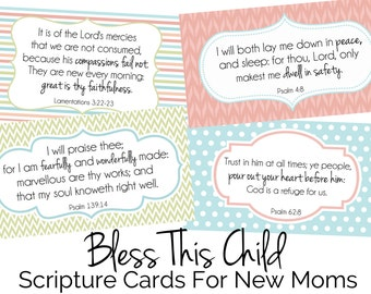 New Mom Scripture Cards