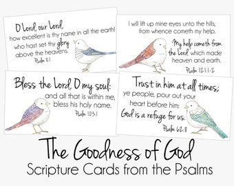 Scripture Cards from Psalms- The Goodness of God