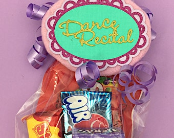 Dance Recital Gift - Gift for Dancer - Dancer Gift - Dance Favor Bag - Dance Teacher Gift - Dance Gift - Dance Coach - Dance Recital Tag
