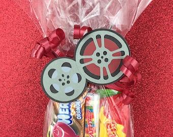 Hollywood Favors - Hollywood Gift Bag - Hollywood Treat Bags - Movie Film Reel - Movie Reel to Reel - Film Reel - Movie Favor Tag
