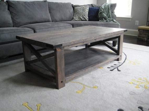 Rustic X Distressed Handmade Coffee Table Etsy