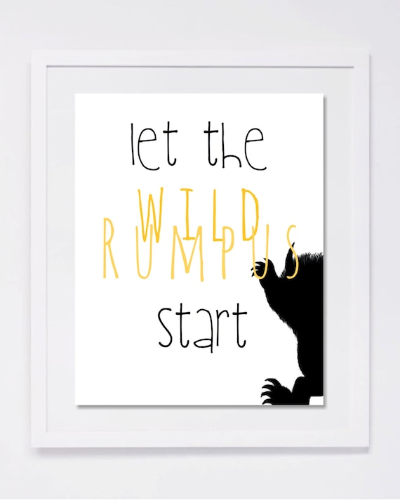 graphic relating to Let the Wild Rumpus Start Printable titled Printable: Allow the wild rumpus commence!