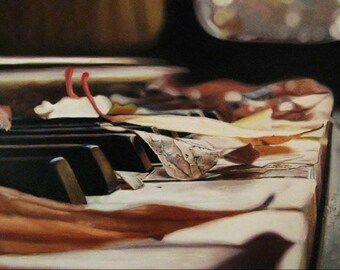 Original Oil Painting - Piano