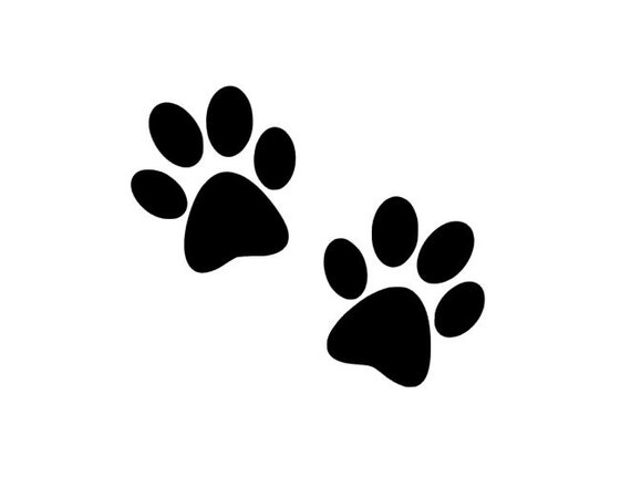 Paw Print Decal Dog Paw Prints Dog Cat Decal Pet Car Decal Etsy