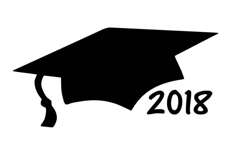 graduation cap car decal 2018 graduation gift class of 2018 etsy