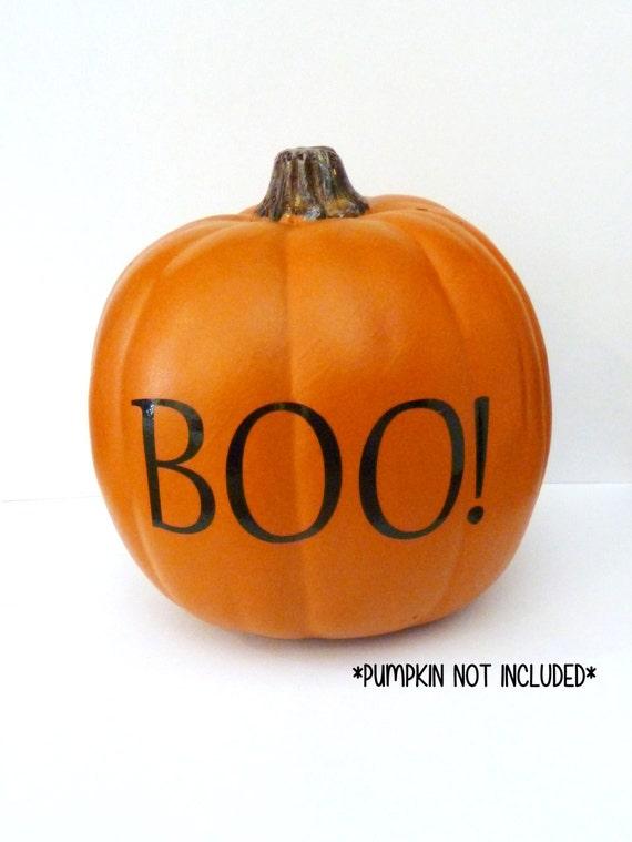 Pumpkin Decal, Pumpkin Decor, Halloween Pumpkin Decorations, Boo Vinyl  Decal, Harvest Decoration, Fall Pumpkin Decoration, Boo! Sticker