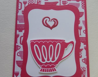 Pink Teacup Mother's Day Card