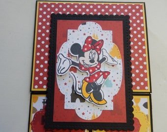 Dutch Door Minnie Mouse Birthday Card