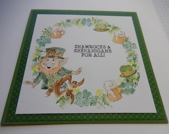 St Patrick's Day Wreath Card