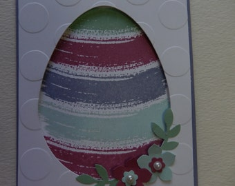 Purple Watercolor Easter Egg Card