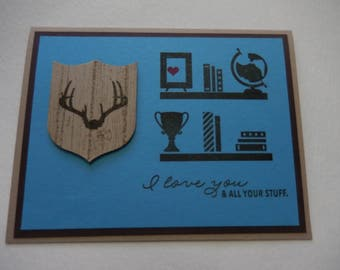 Antler Picture Love Card