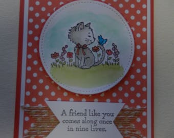 Pretty Kitty Friendship Card
