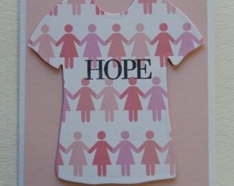 Breast Cancer Hope with Ladies T-Shirt Card