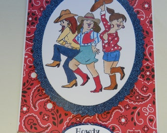 Howdy Cowgirls Card
