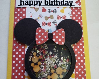 Minnie Mouse Shaker Birthday Card