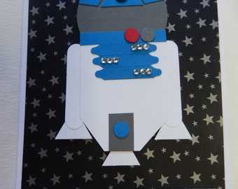 Star Wars Birthday Card with R2D2