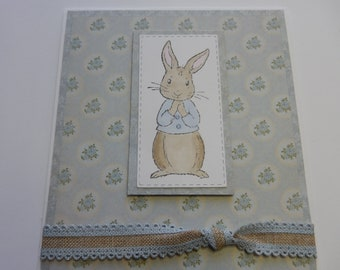 Peter Rabbit Baby Card