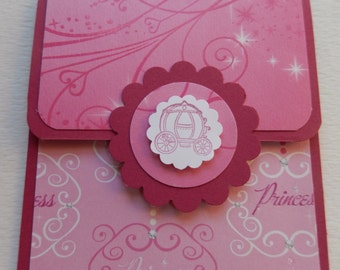 Princess Themed Giftcard Holder in Rose